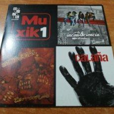 CDs de Música: MUXIK 1 CD MAXI SINGLE EP CARTON LA INCONSCIENCIA DE UOHO CALAÑA EXTREMODURO PLATERO Y TU 6 TEMAS. Lote 190902668