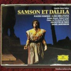 CDs de Música: PLACIDO DOMINGO - ELENA OBRAZTSOVA (SAMSON ET DALILA) 2 CD'S + LIBRETO - CAMILLE SAINT-SAENS. Lote 190937167
