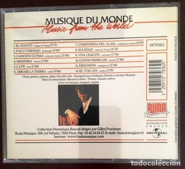 CDs de Música: PACO EL LOBO - AFICIÓN - MUSIQUE DU MONDE - Foto 2 - 191005942