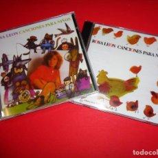 CDs de Música: ROSA LEÓN / CANCIONES PARA NIÑOS VOL.1 Y VOL. 2 / CANCIONES INFANTILES / FONOMUSIC / 2 CD. Lote 191080192