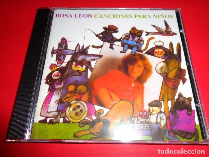 CDs de Música: ROSA LEÓN / CANCIONES PARA NIÑOS VOL.1 Y VOL. 2 / CANCIONES INFANTILES / FONOMUSIC / 2 CD - Foto 2 - 191080192