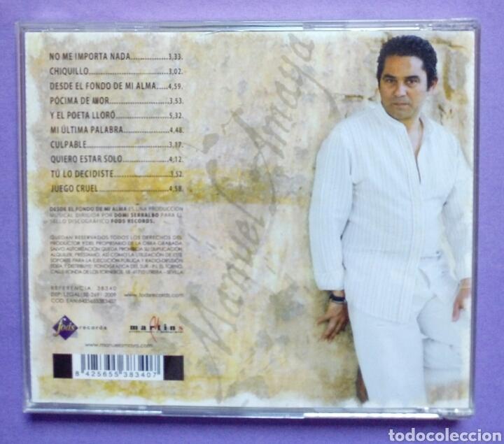 CDs de Música: Manuel Amaya - Des del fondo de mi alma - Foto 2 - 191083606