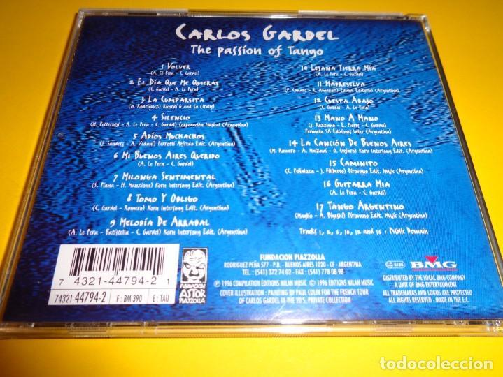 CDs de Música: CARLOS GARDEL / THE PASSION OF TANGO / MILAN RECORDS / CD - Foto 2 - 191137431