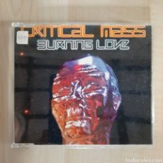 CDs de Música: CRITICAL MASS / BURNIN LOVE. Lote 191155626