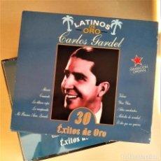 CDs de Música: 2CD CARLOS GARDEL - 30 ÉXITOS DE ORO, COLECCIÓN LATINOS DE ORO, 1999, COMO NUEVO (EX_NM). Lote 191176511