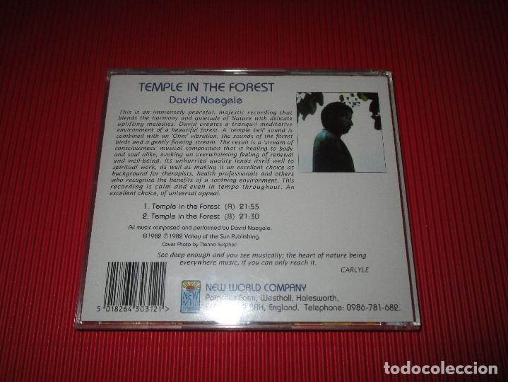 CDs de Música: TEMPLE IN THE FOREST - CD - NWCD 312 - NEW WORLD MUSIC - DAVID NAEGELE - Foto 3 - 191203203