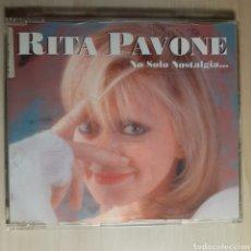 CDs de Música: RITA PAVONE / NO SOLO NOSTALGIA. Lote 191203262