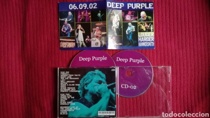 DEEP PURPLE: 2CD'S LIVE CARLING APOLLO 6 SEPTIEMBRE 02 LOUDER HARDER HAMMERSMITH. (Música - CD's Rock)