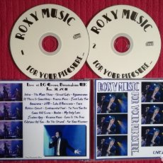 CDs de Música: ROXY MUSIC: FOR YOUR PLEASURE.2CD'S LIVE.. Lote 191230200