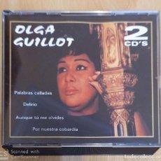 CDs de Música: OLGA GUILLOT (PALABRAS CALLADAS, DELIRIO, AUNQUE TU ME OLVIDES....) 2 CD'S 2001. Lote 191251730