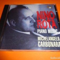 CDs de Música: NINO ROTA / PIANO MUSIC / MICHELANGELO CARBONARA/ BRILLIANT CLASSICS / CD. Lote 191337182