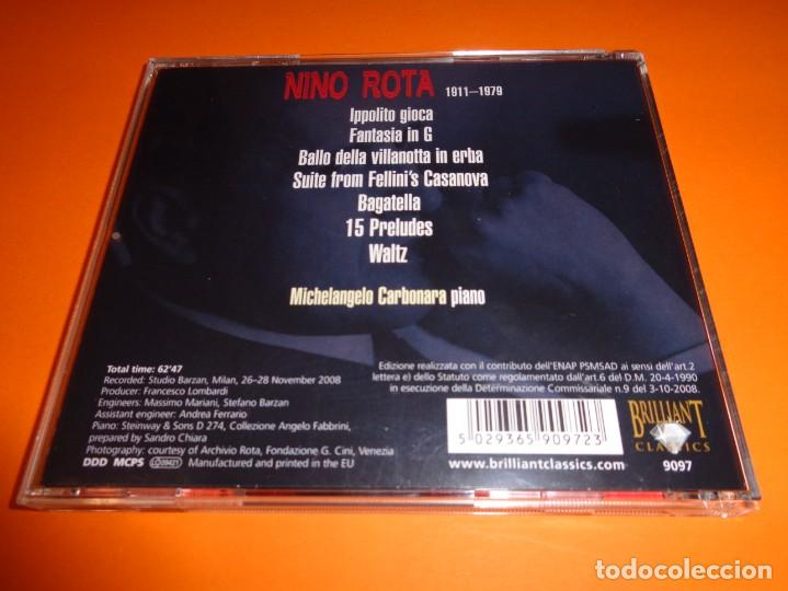 CDs de Música: NINO ROTA / PIANO MUSIC / MICHELANGELO CARBONARA/ BRILLIANT CLASSICS / CD - Foto 2 - 191337182