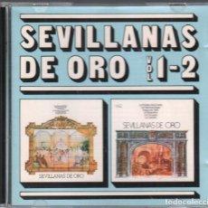 CDs de Música: SEVILLANAS DE ORO VOL. 1 - 2 / CD DE 1988 RF-3652 , BUEN ESTADO. Lote 191354558