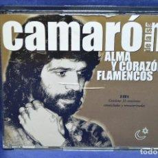 CDs de Música: CAMARÓN DE LA ISLA - ALMA Y CORAZÓN FLAMENCOS - 3 CD. Lote 191448218