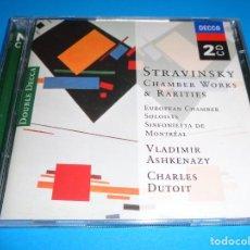 CDs de Música: IGOR STRAVINSKY / CHAMBER WORKS & RARITIES / VLADIMIR ASHKENAZY / CHARLES DUTOIT / DOUBLE DECCA 2 CD. Lote 191481891