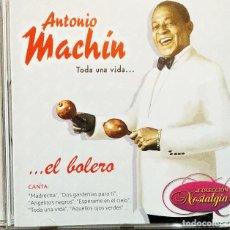 CDs de Música: CD ANTONIO MACHÍN - TODA UNA VIDA... EL BOLERO, ESPAÑA 2014, PARLOPHONE – 3 59375 2 (NM_NM). Lote 191594488