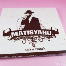 CDs de Música: CD-MATISYAHU-LIVE AT STUBB´S-11 TEMAS-2005-REGGAE-VER FOTOS. Lote 191642560