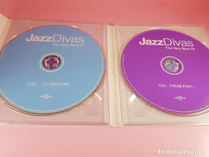 CDs de Música: CD DOBLE-JAZZ DIVAS.THE VERY BEST OF-JAZ RADIO-2011-WAGRAM MUSIC. - Foto 7 - 191646992