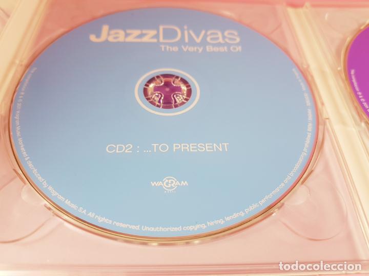 CDs de Música: CD DOBLE-JAZZ DIVAS.THE VERY BEST OF-JAZ RADIO-2011-WAGRAM MUSIC. - Foto 8 - 191646992