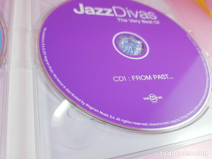 CDs de Música: CD DOBLE-JAZZ DIVAS.THE VERY BEST OF-JAZ RADIO-2011-WAGRAM MUSIC. - Foto 9 - 191646992