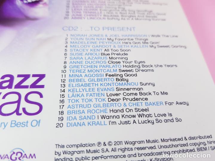 CDs de Música: CD DOBLE-JAZZ DIVAS.THE VERY BEST OF-JAZ RADIO-2011-WAGRAM MUSIC. - Foto 11 - 191646992