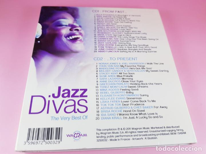 CDs de Música: CD DOBLE-JAZZ DIVAS.THE VERY BEST OF-JAZ RADIO-2011-WAGRAM MUSIC. - Foto 12 - 191646992