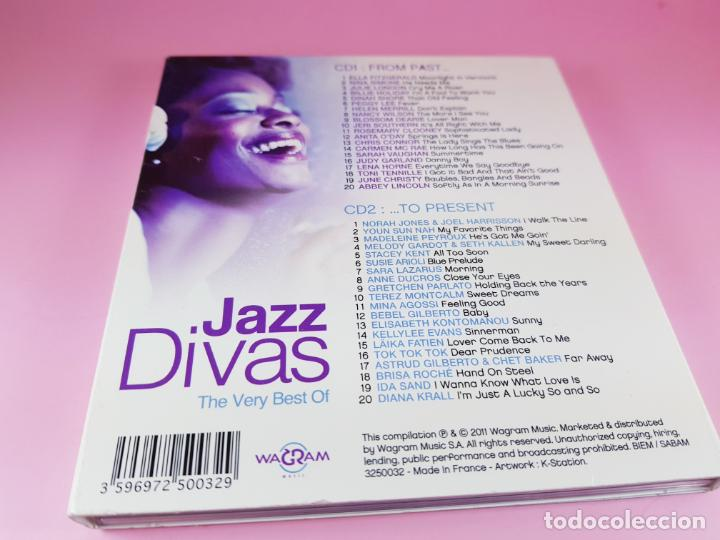 CDs de Música: CD DOBLE-JAZZ DIVAS.THE VERY BEST OF-JAZ RADIO-2011-WAGRAM MUSIC. - Foto 14 - 191646992
