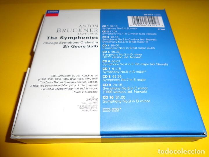 CDs de Música: ANTON BRUCKNER / THE SYMPHONIES / SIR GEORG SOLTI / 10 CD - Foto 2 - 191706730