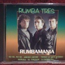 CDs de Música: RUMBA TRES (RUMBAMANIA) CD 1996 - 11 TEMAS . Lote 191713917