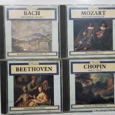 CDs de Música: LOTE 4 CD BEETHOVEN, MOZART, BACH, CHOPIN. PALETTE.MUSICA CLÁSICA. CDS. Lote 191740193