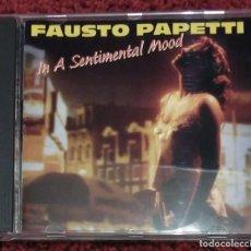 CDs de Música: FAUSTO PAPETTI (IN A SENTIMENTAL MOOD - IL DISCO D'ORO) CD 1990 . Lote 191799765