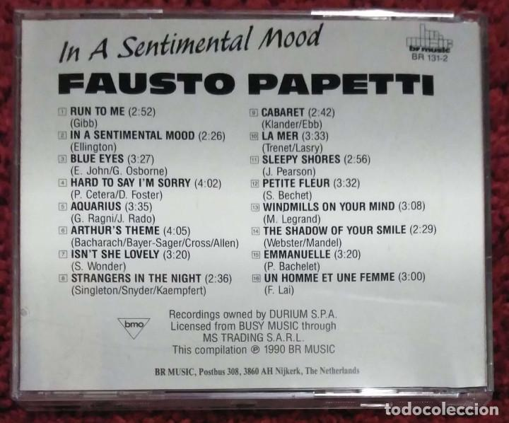 CDs de Música: FAUSTO PAPETTI (IN A SENTIMENTAL MOOD - IL DISCO DORO) CD 1990 - Foto 2 - 191799765