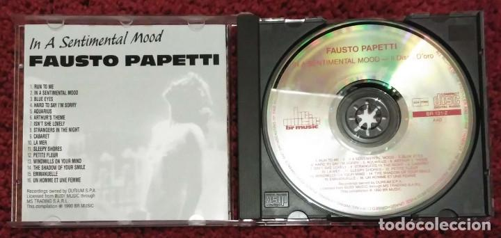 CDs de Música: FAUSTO PAPETTI (IN A SENTIMENTAL MOOD - IL DISCO DORO) CD 1990 - Foto 3 - 191799765