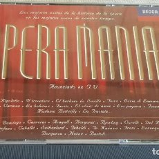 CDs de Música: OPERA MANIA / DOBLE3 CD-BOX / 31 TEMAS / CALIDAD LUJO.. Lote 191805675