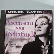 CDs de Música: MILES DAVIS – ASCENSEUR POUR L'ÉCHAFAUD (LIFT TO THE SCAFFOLD) VERSIÓN ALEMANA DE FONTANA. Lote 191865486