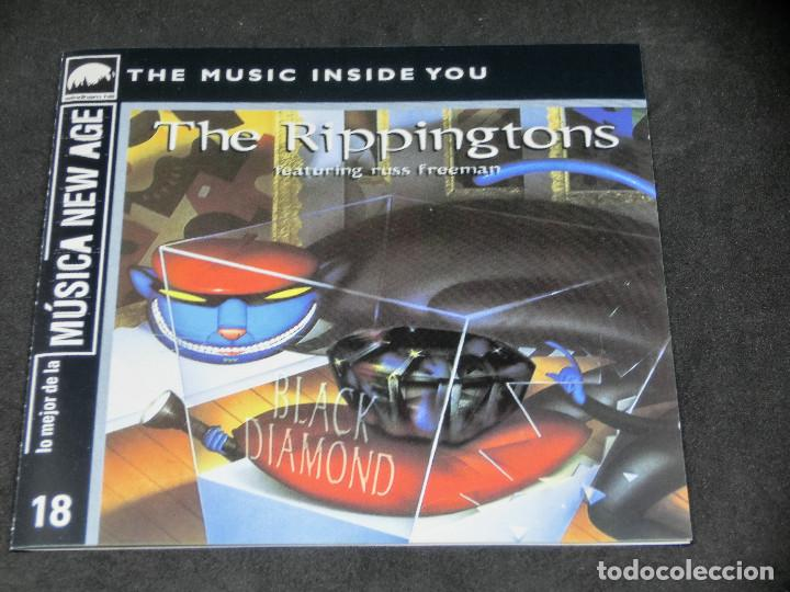 CDs de Música: CD -THE RIPPINGTONS FEATURING RUSS FREEMAN - BLACK DIAMOND - LO MEJOR DE LA MÚSICA NEW AGE 18 - Foto 5 - 191927770