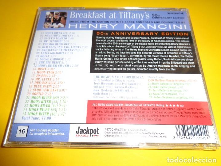 CDs de Música: BREAKFAST AT TIFFANY´S / EDICIÓN 50 ANIVERSARIO / DESAYUNO CON DIAMANTES / ORIGINAL SOUNDTRACK / CD - Foto 2 - 192039197