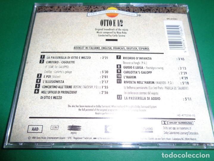 CDs de Música: OTTO E 1/2 / OTTO E MEZZO / NINO ROTA / ORIGINAL SOUNDTRACK / OCHO Y MEDIO / BANDA SONORA / CD - Foto 2 - 192039395
