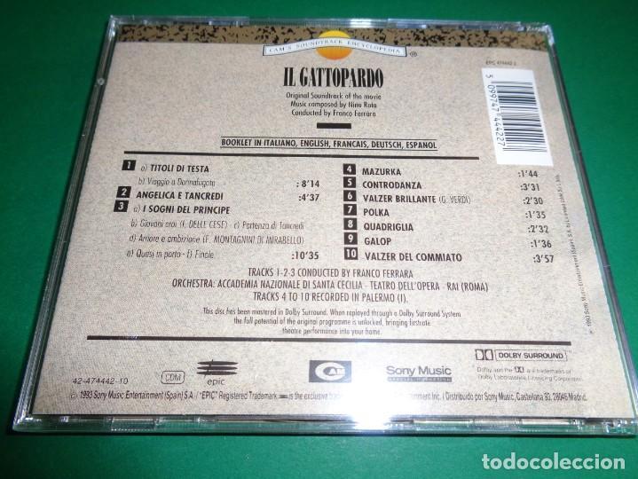 CDs de Música: IL GATTOPARDO / NINO ROTA / LUCHINO VISCONTI / ORIGINAL SOUNDTRACK / BANDA SONORA / CD - Foto 2 - 192039996