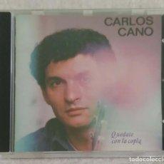 CDs de Música: CARLOS CANO (QUEDATE CON LA COPLA) CD 1987 - 1ª EDICIÓN SIN CODIGO DE BARRAS. Lote 192060461