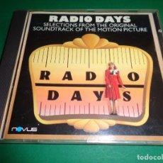 CDs de Música: RADIO DAYS / ORIGINAL SOUNDTRACK / DÍAS DE RADIO / BANDA SONORA / WOODY ALLEN / BSO / CD. Lote 192061230