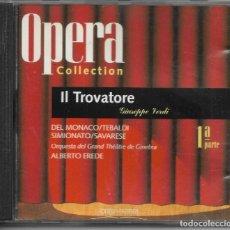 CDs de Música: == AA98 - OPERA COLLECTION - IL TROVATORE - 1ª PARTE. Lote 192077178