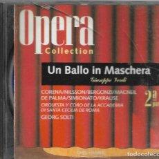CDs de Música: == AA104 - OPERA COLLECTION - UN BALLO IN MASCHERA - 2ª PARTE. Lote 192079397