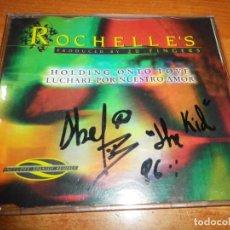 CDs de Música: ROCHELLE´S HOLDING ONTO LOVE REMIXES FIRMADO PORTADA ABEL THE KID CD SINGLE AÑO 1996 EURODANCE RARO. Lote 192089645