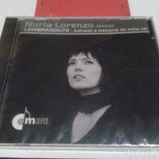 CDs de Música: CD ( NURIA LORENZO - LEMBRANDOTE ) 2010 PAIDEIA - NUEVO PRECINTADO. Lote 192100310