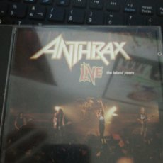 CDs de Música: ANTHRAX / CD / LIVE THE ISLAND YEARS / ROCK / RAP / METAL / THRASH. Lote 192103972