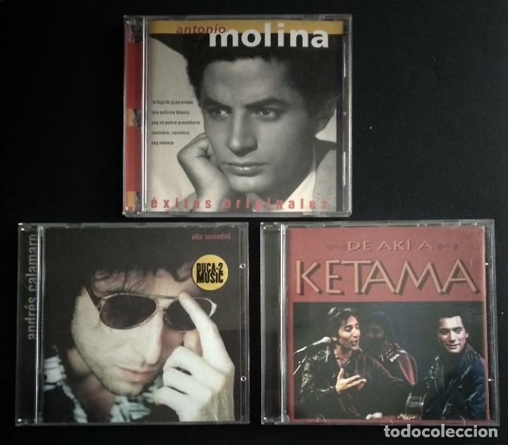 LOTE 3 CD FLAMENCO ANTONIO MOLINA - CALAMARO - KETAMA (Música - CD's Flamenco, Canción española y Cuplé)