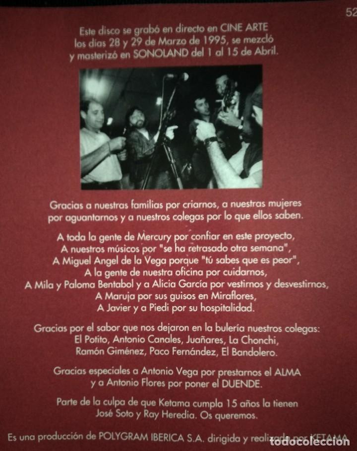 CDs de Música: Lote 3 CD flamenco ANTONIO MOLINA - CALAMARO - KETAMA - Foto 9 - 192114320