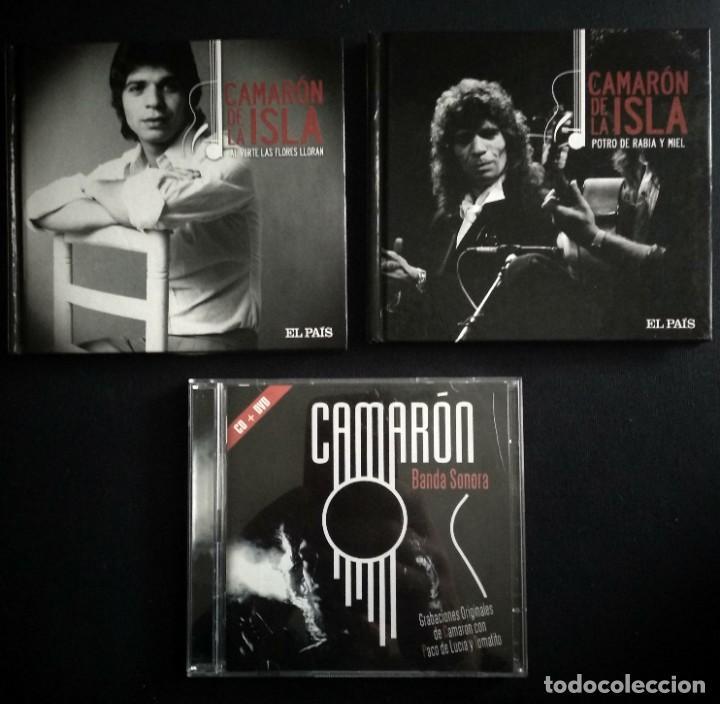 LOTE 3 CD CAMARON DE LA ISLA (2 CD-LIBRO Y 1 CD-DVD) (Música - CD's Flamenco, Canción española y Cuplé)