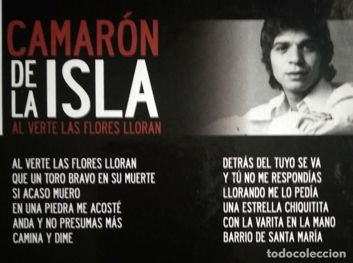 CDs de Música: Lote 3 CD CAMARON DE LA ISLA (2 CD-libro y 1 CD-DVD) - Foto 7 - 192119400